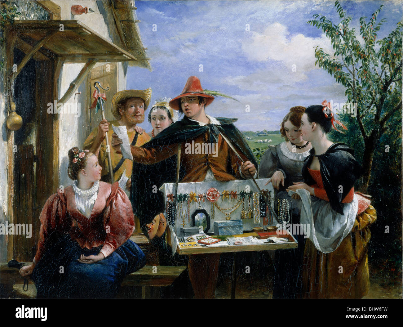 Autolycus in A Winter's Tale, by Charles Robert Leslie. England, 1836 Stock Photo