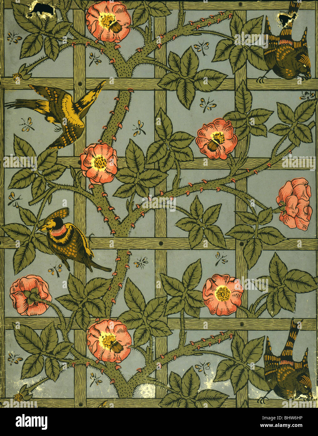 Trellis Wallpaper By William Morris London England Late 19th Century