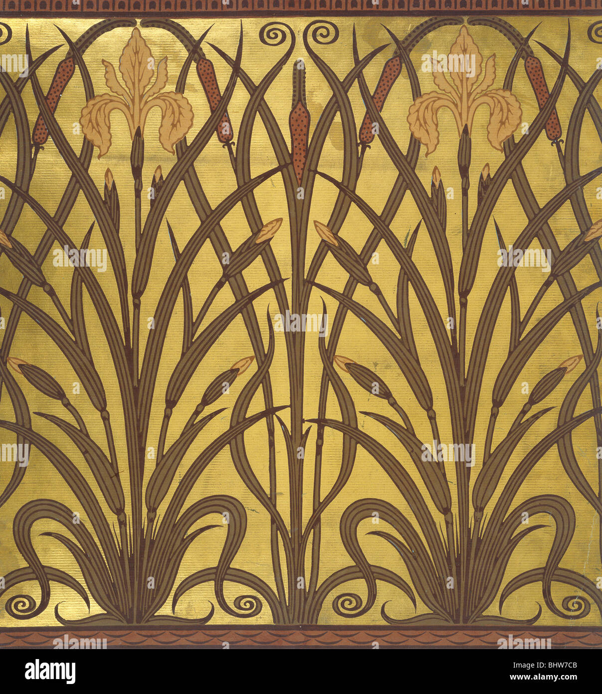 Wallpaper Art Nouveau Stock Photos & Wallpaper Art Nouveau Stock ...