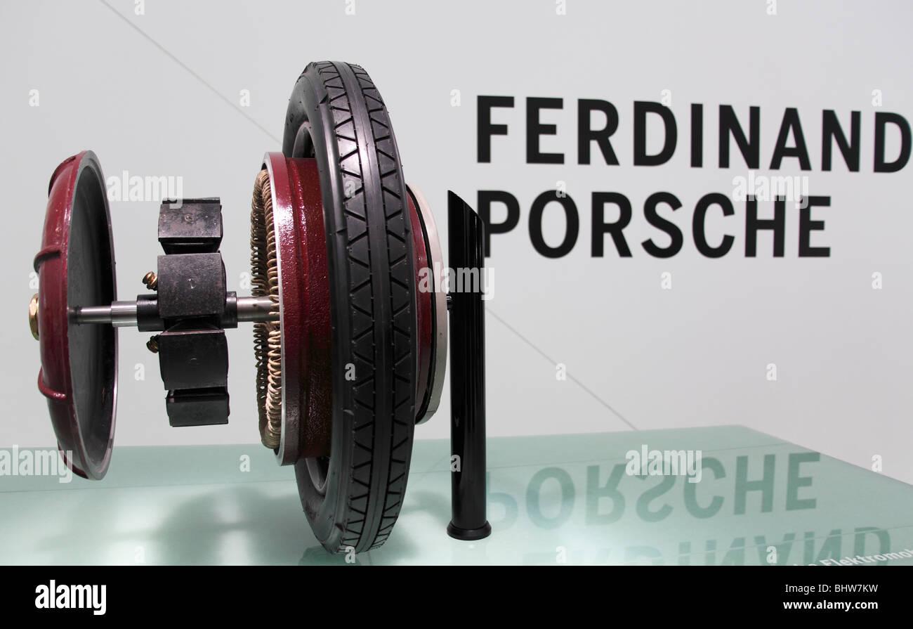 old classic car in Porsche museum in Stuttgart Stock Photo