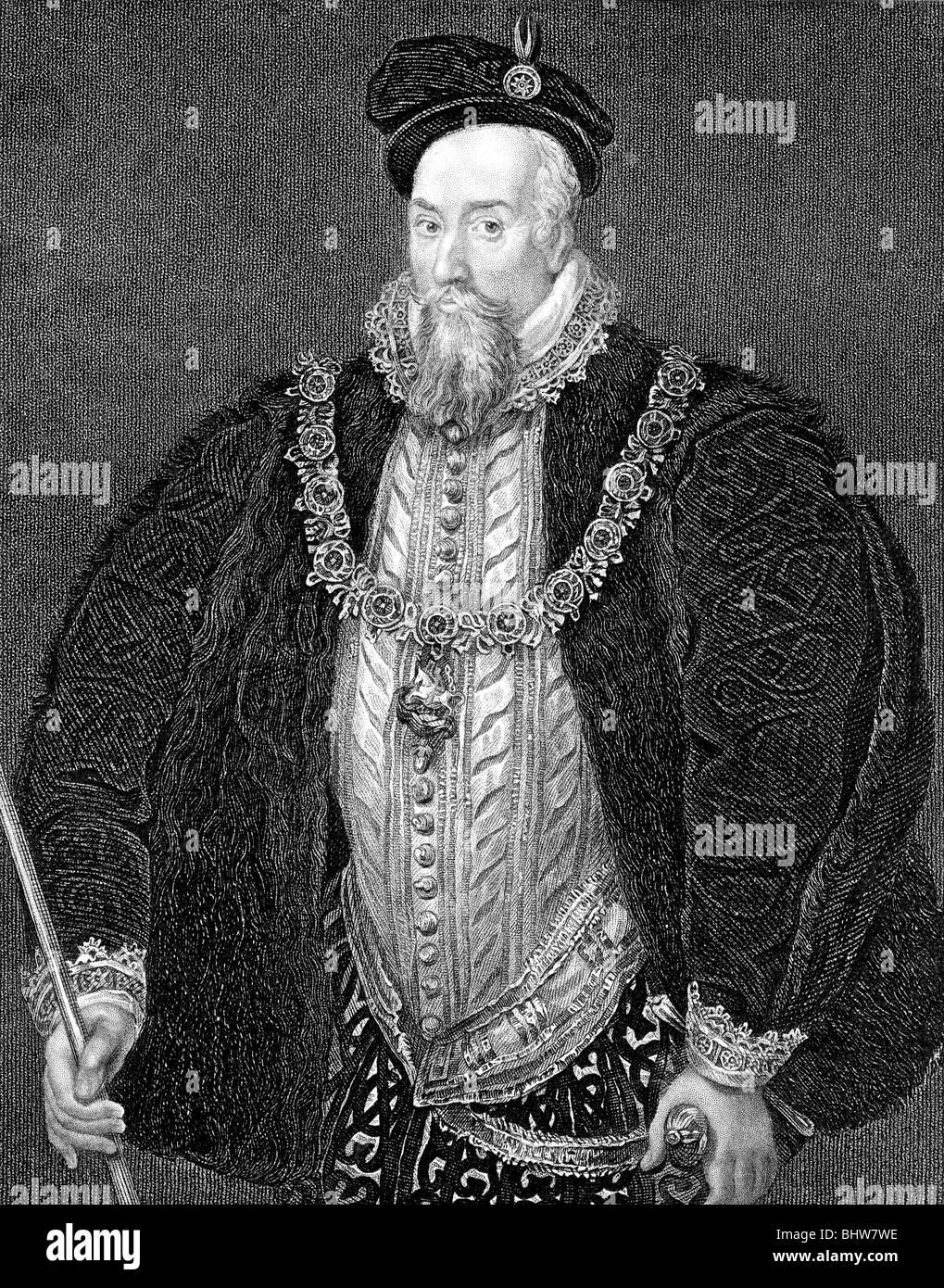 SIR ROBERT CECIL, Ist Earl of Salisbury  - Elizabethan statesman (1563-1612) - Stock Image