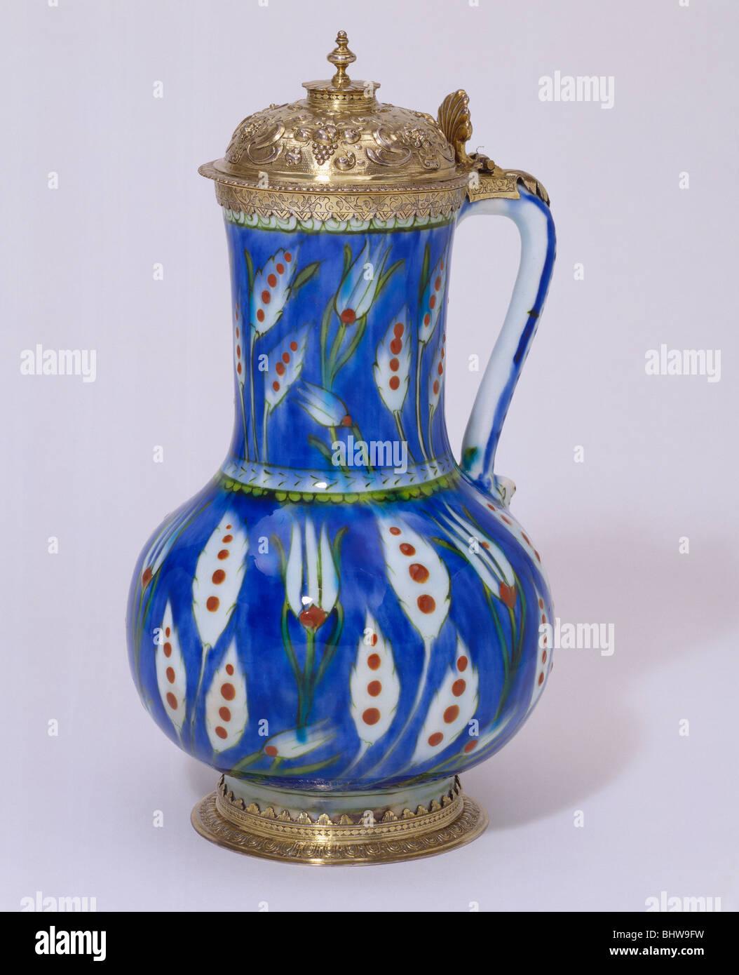 Mounted jug. Turkey and England, 16th century - Stock Image