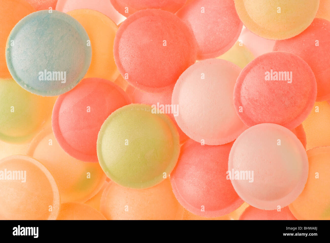 Studio shot of Flying Saucer sweets - Stock Image