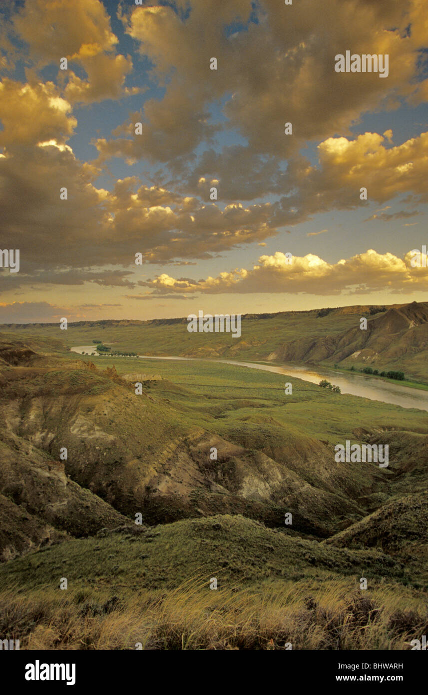 Upper Missouri River Breaks National Monument at Mile 79, BLM Lands, below Loma, Montana, USA Stock Photo