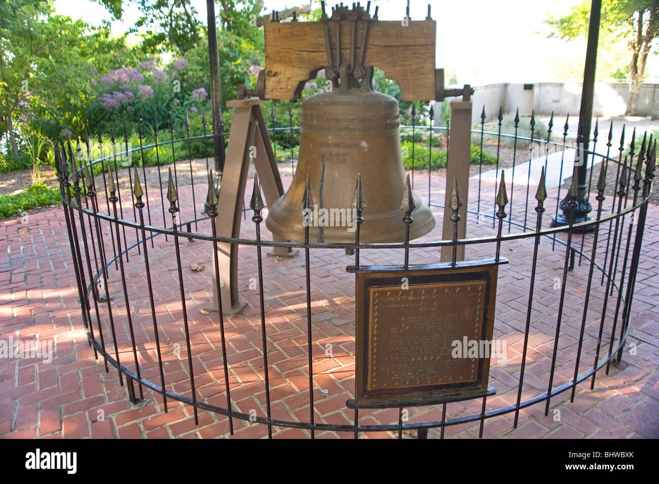 Missouri State Capitol - Liberty Bell Replica - Stock Image