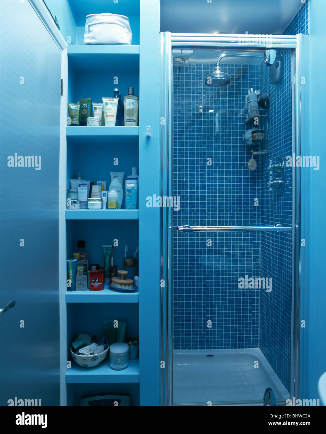 Bathrooms Interiors Showers Town Stock Photos & Bathrooms Interiors ...