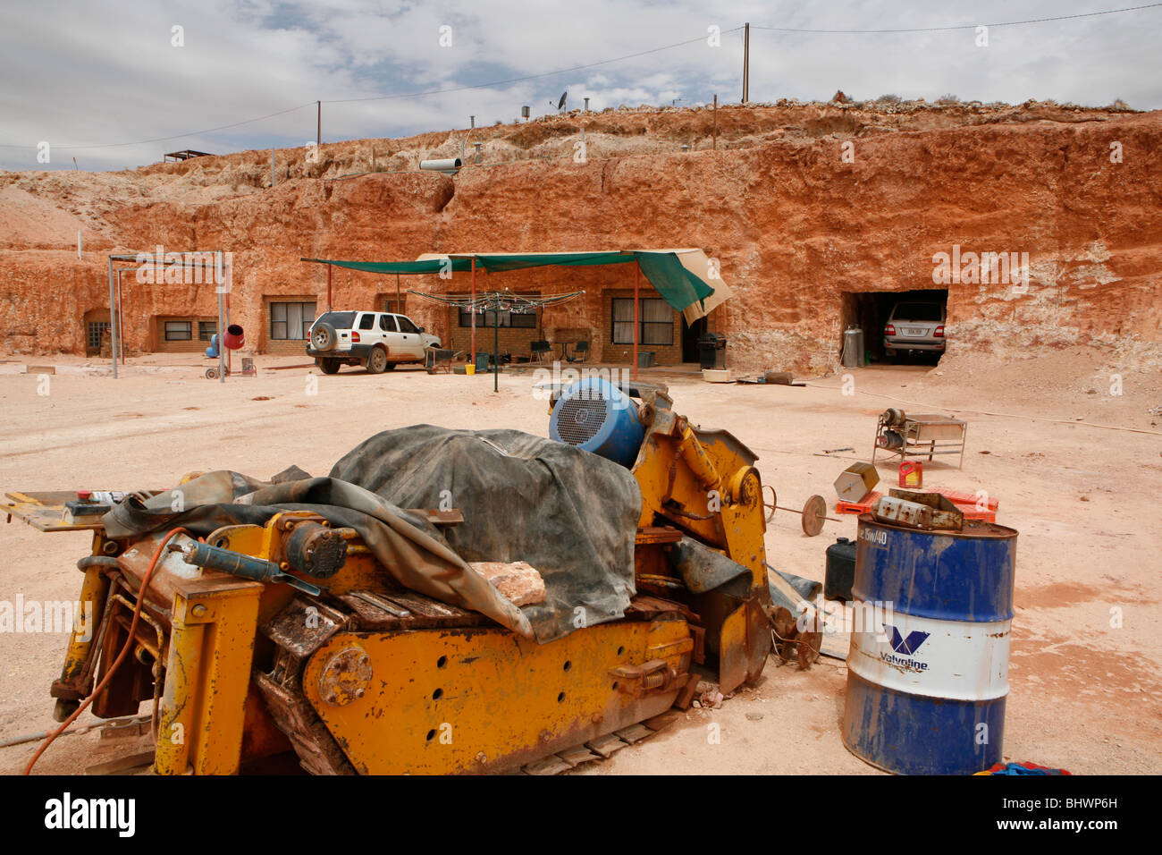 In Cooper Peddy (in the Outback) 60 percent of the people live underground, often in old mines (Outback, South Australia) - Stock Image