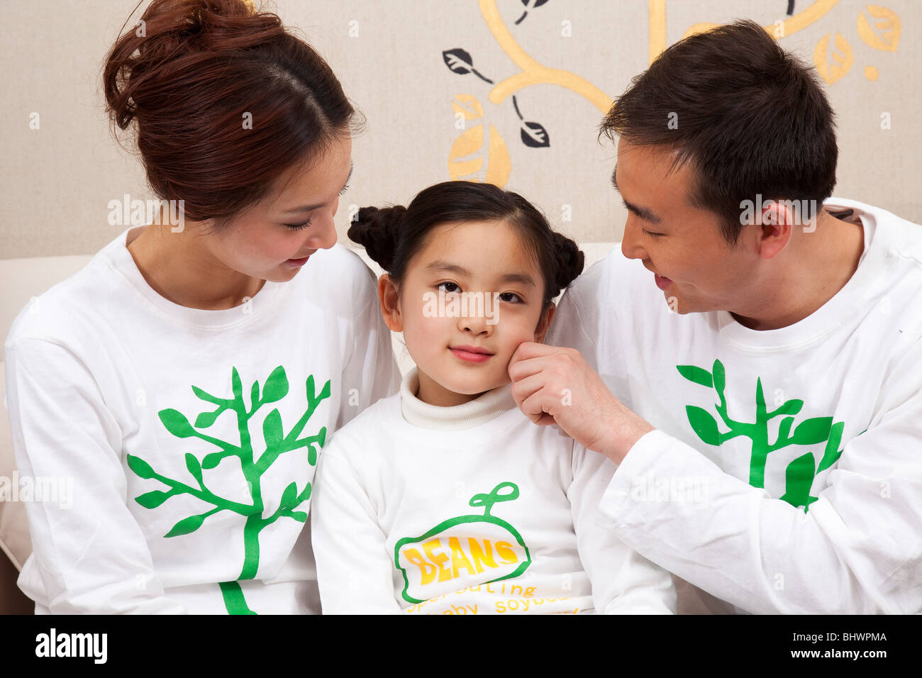 Family life in current China Stock Photo