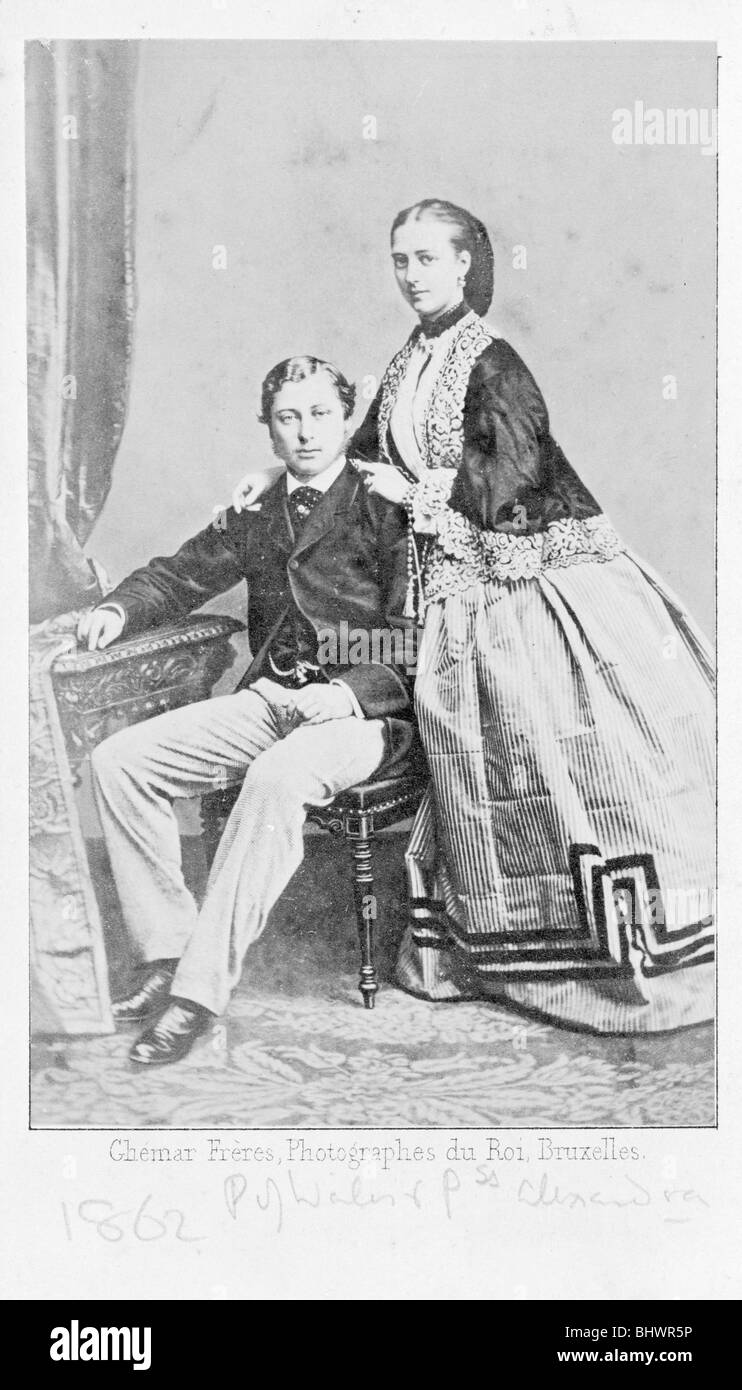 The Prince of Wales and Princess Alexandra of Denmark (when engaged), 1862. - Stock Image