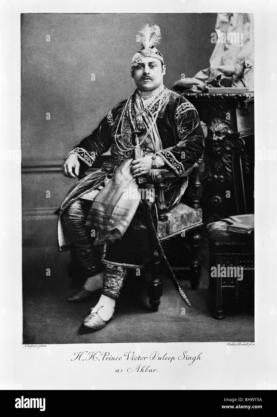HH Prince Victor Duleep Singh as Akbar, c1900. - Stock Image