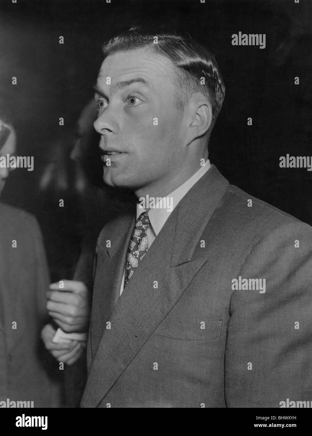 Charles Mitten: Footballer Charles Mitten was fined £250 and suspended until December by the F.A. for his Bagota - Stock Image