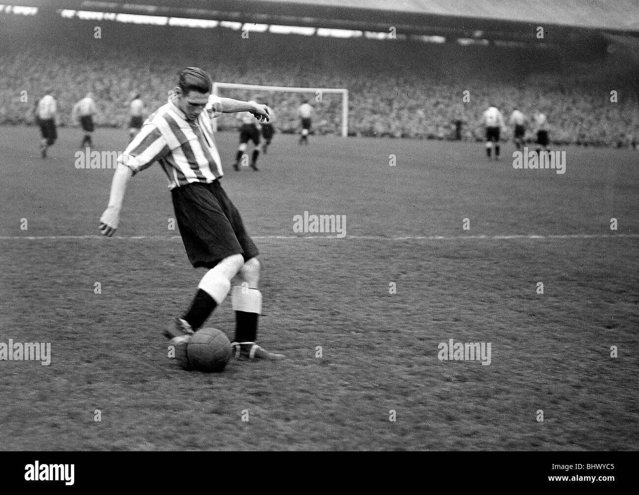 Len Shackleton Newcastle United Circa 1946 Len Shackleton was one of the most talented footballers of the immediate - Stock Image