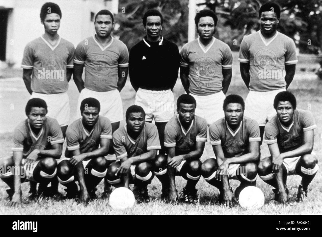 Zaire football Team 1974 World Cup - Stock Image