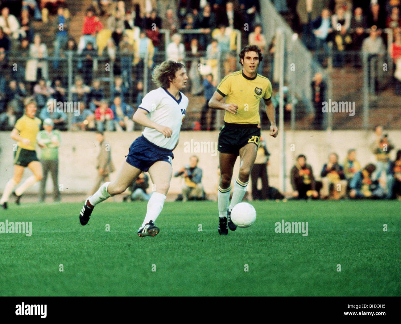 East Germany v Australia World Cup 1974 football - Stock Image