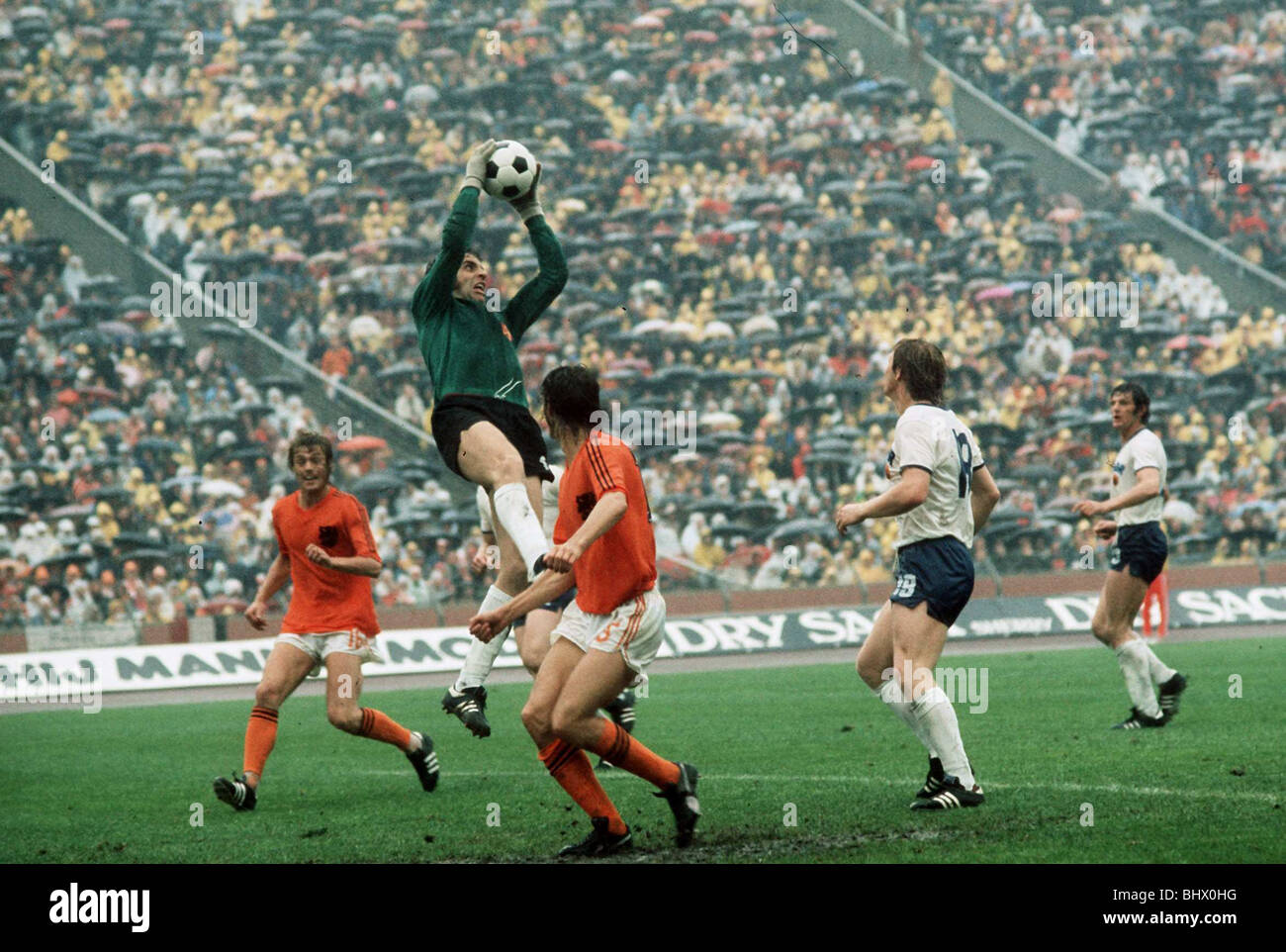 East Germany v Holland World Cup 1974 football - Stock Image