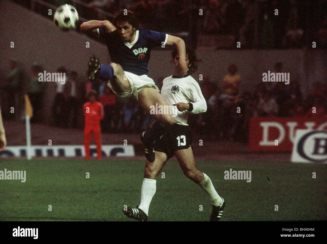 East Germany v West Germany World Cup 1974 football - Stock Image