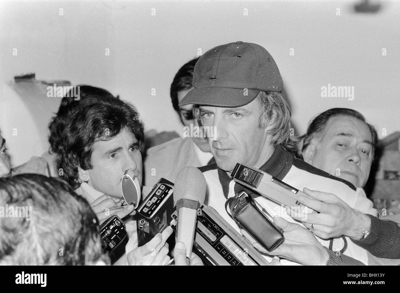 1978 World Cup Final in Buenos Aires, Argentina. Argentina 3 v Holland 1. Argentina manager Cesar Luis Menotti speaking - Stock Image