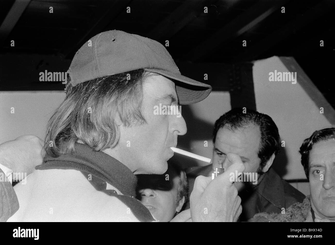 1978 World Cup Final in Buenos Aires, Argentina. Argentina 3 v Holland 1. Argentina manager Cesar Luis Menotti smoking - Stock Image