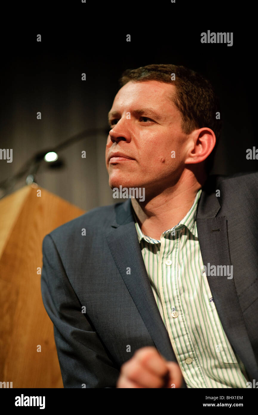 Welsh television news presenter Rhun ap Iorwerth at the launch of PETHE, new culture programme on S4C, - Stock Image