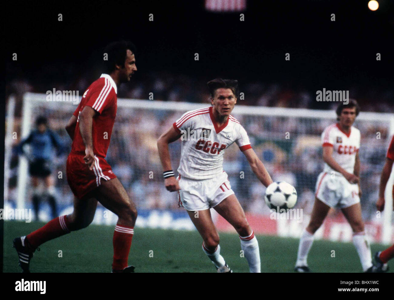 World Cup 1982 Poland 0 USSR 0 Group A - Stock Image