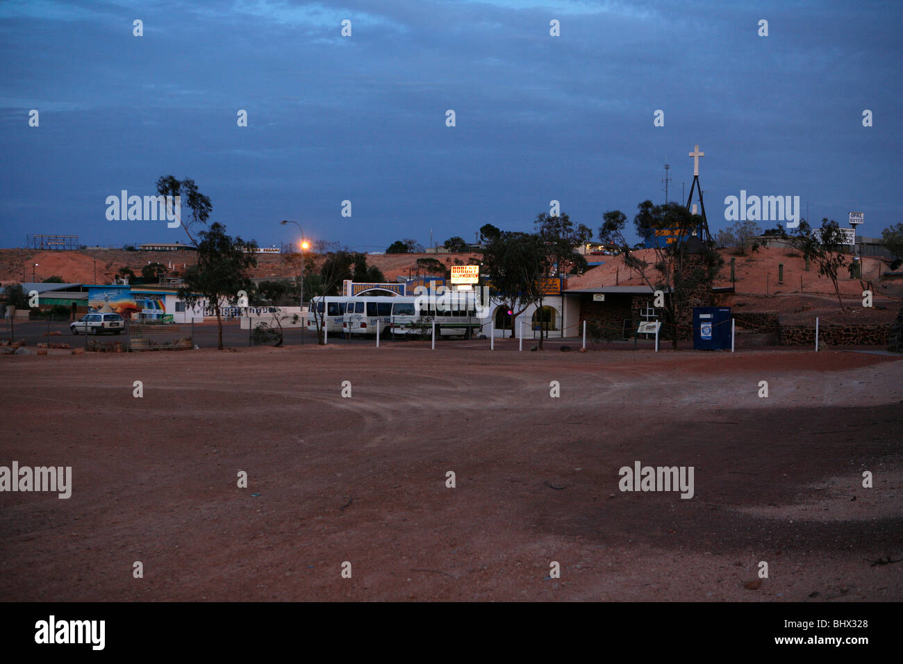 Cooper Peddy by evening (Outback, South Australia) - Stock Image