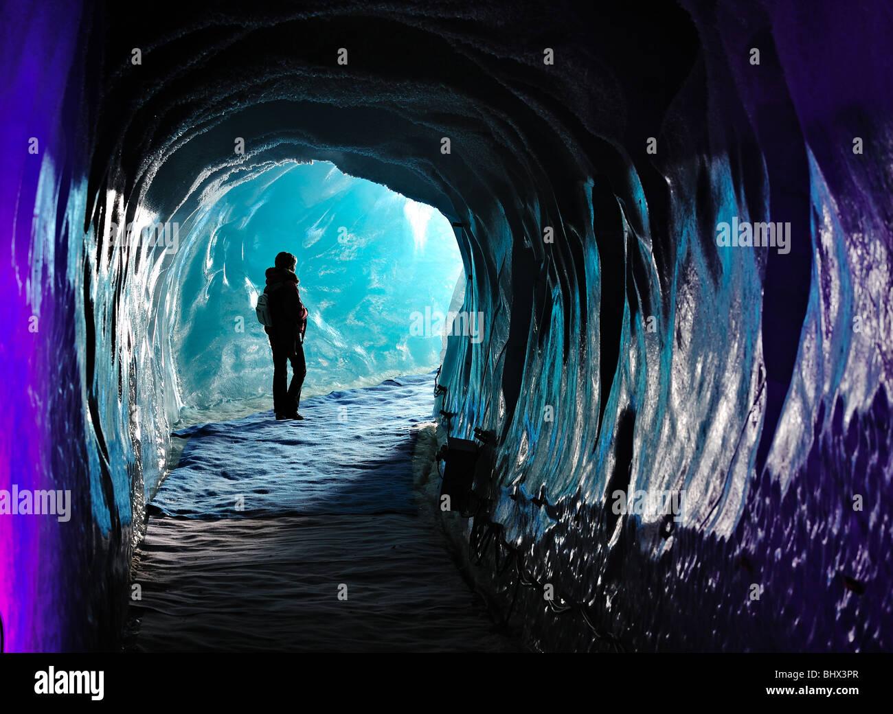 Grotte de Glace, French Alps, Chamonix. - Stock Image