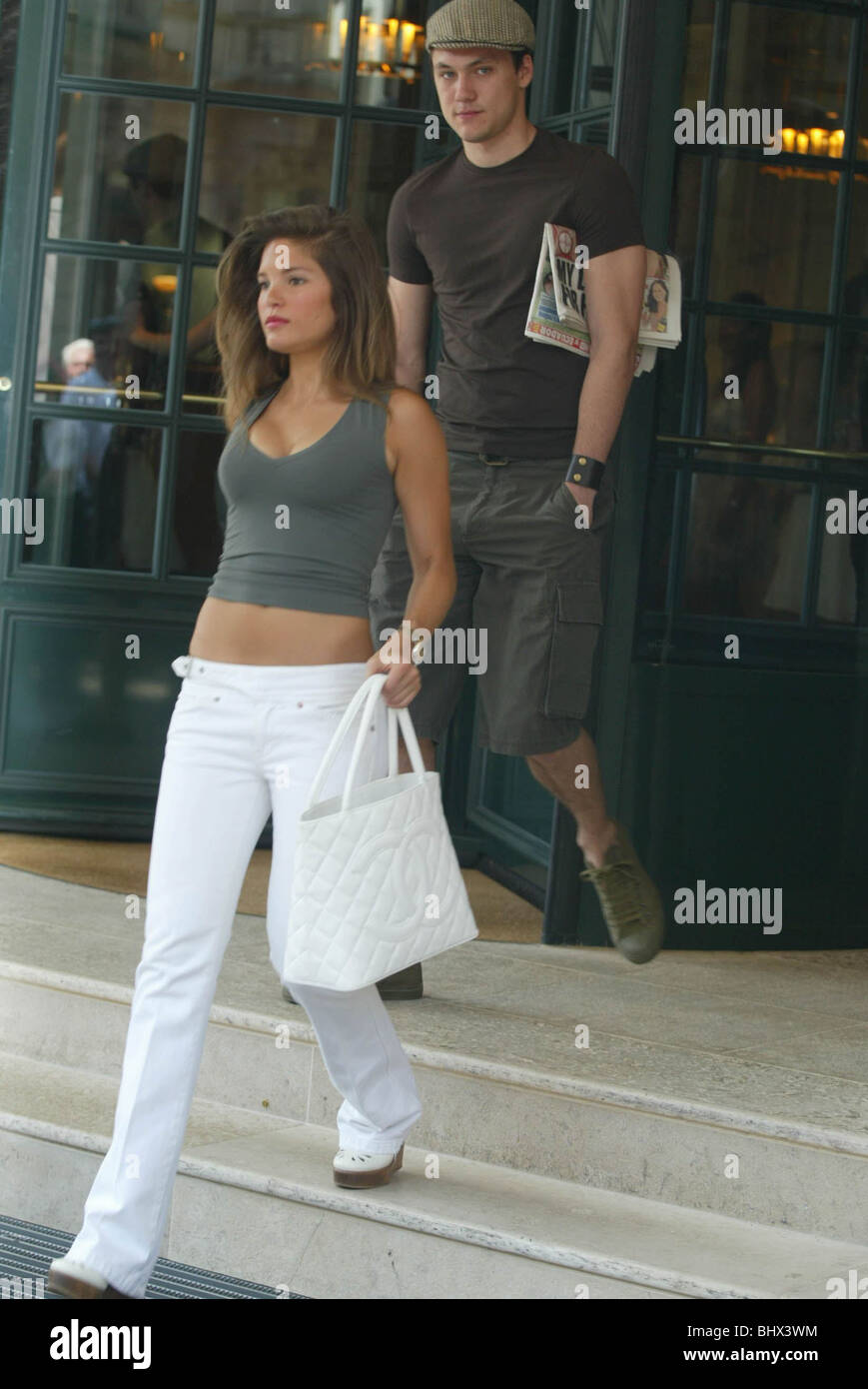 Carly Zucker leaves the Brenners Park hotel today, ahead of Englands first knock out match in 2006 World cup June - Stock Image