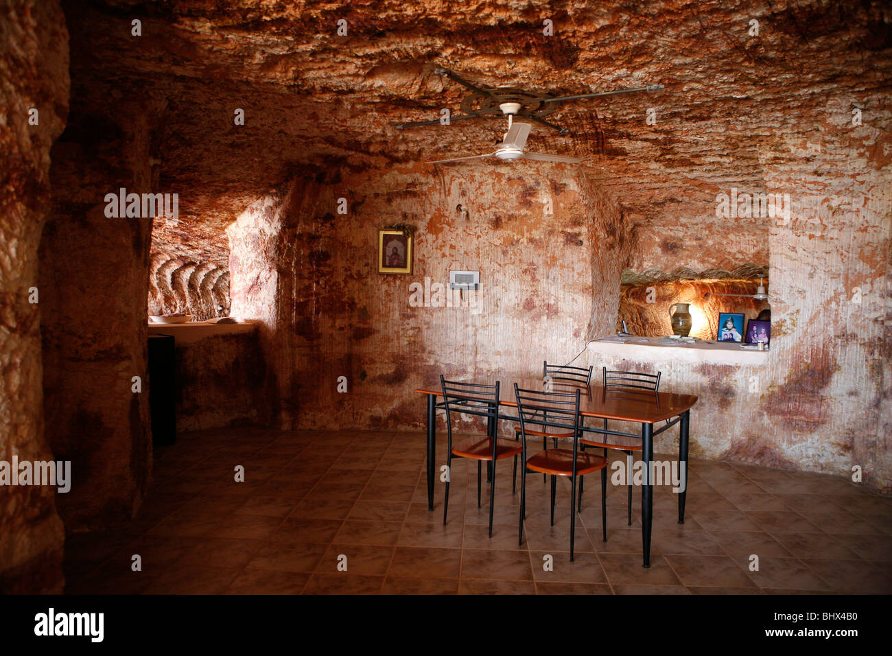 In Cooper Peddy (in the Outback) 60 percent of the people live underground, often in old mines (Outback, South Australia) Stock Photo