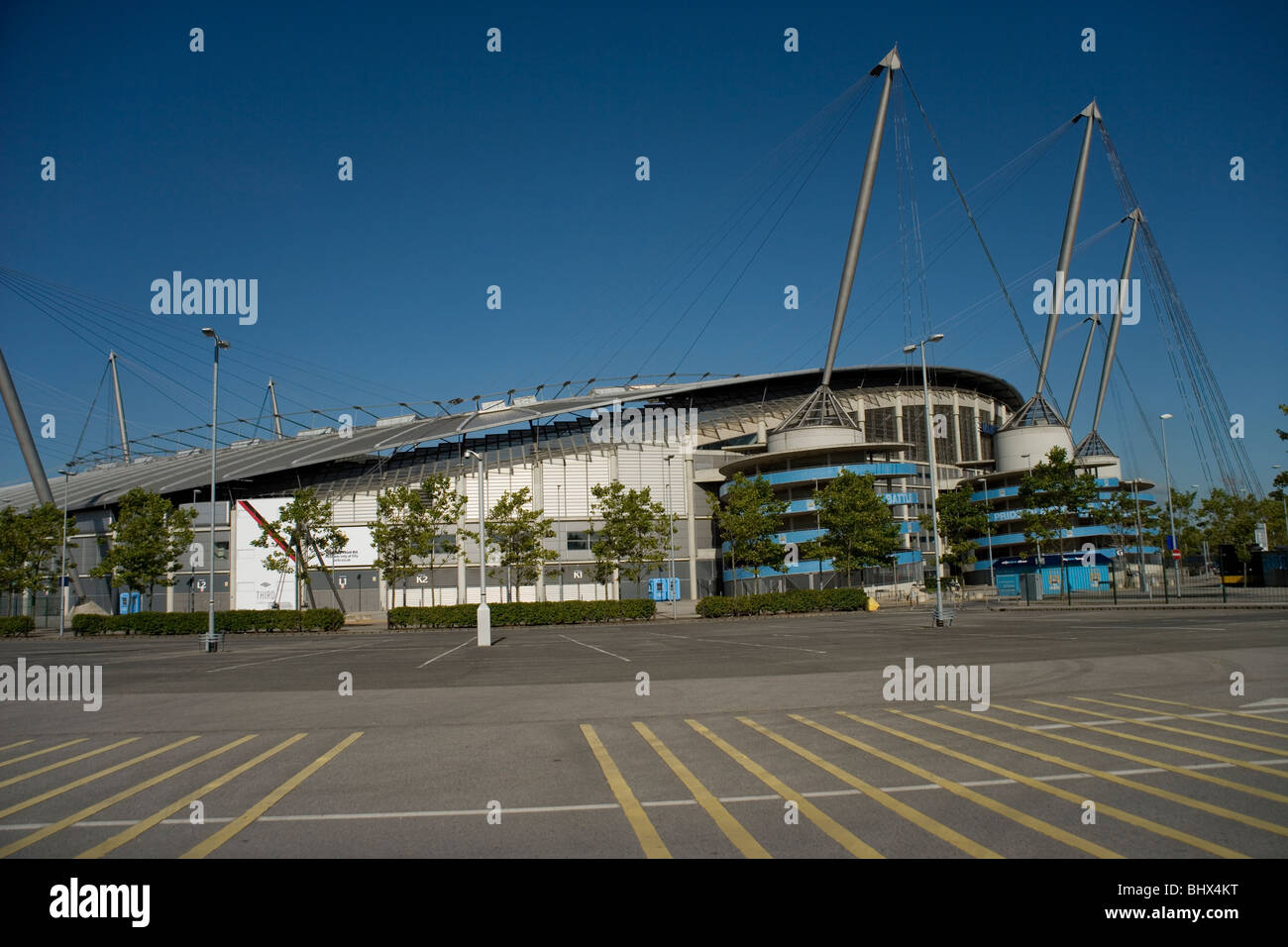 Manchester City Football Club stadium at the Eastlands complex in Manchester - Stock Image