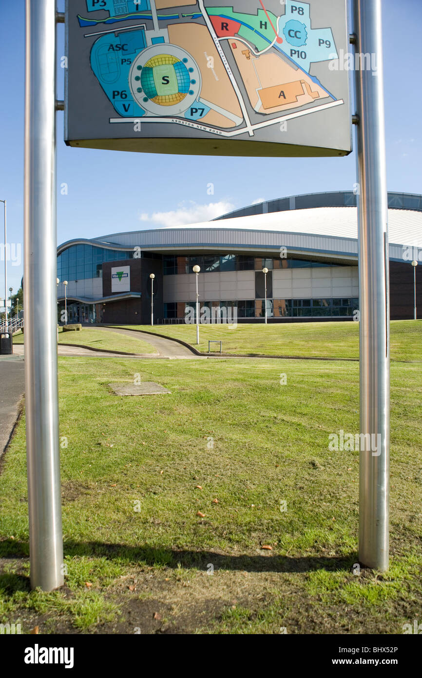 Velodrome stadium in the Sports City Complex Eastlands Manchester - Stock Image