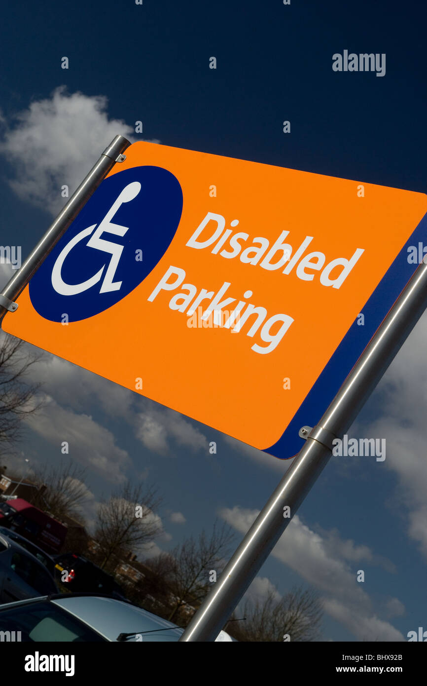 Disabled Parking Sign - Stock Image