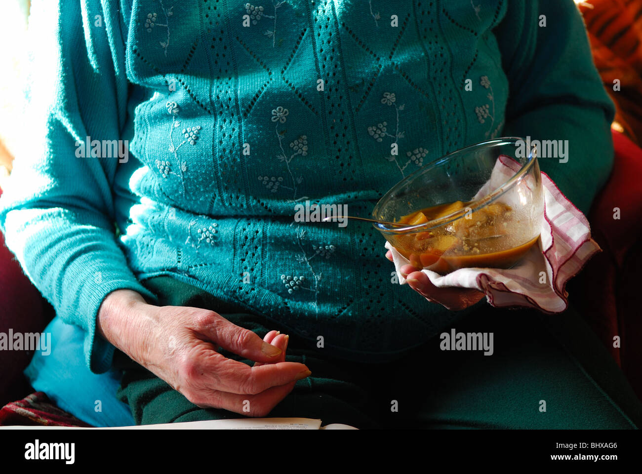 Woman Senior Eating Soup Stock Photos & Woman Senior Eating Soup ...