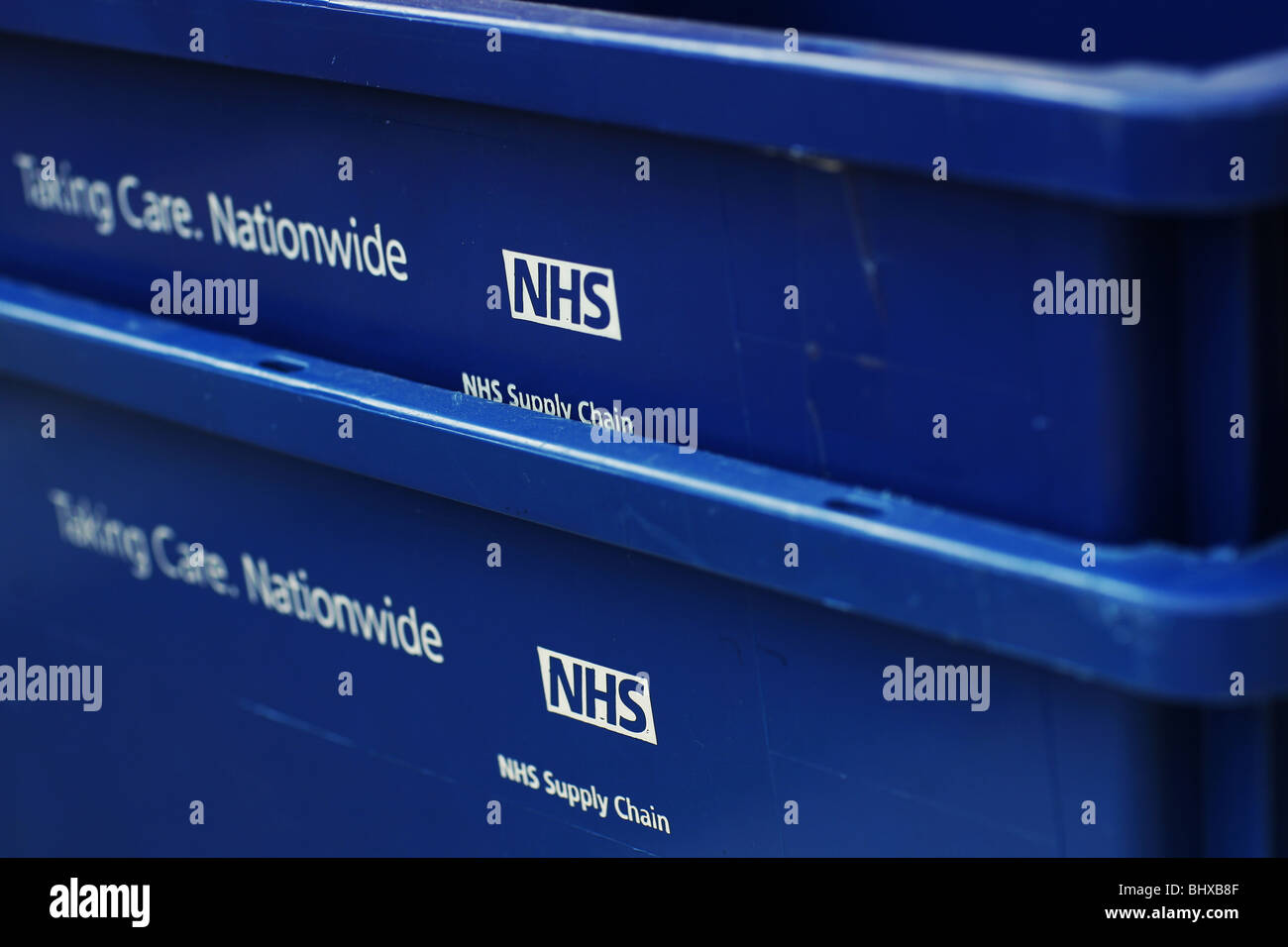 NHS supply chain containers - Stock Image