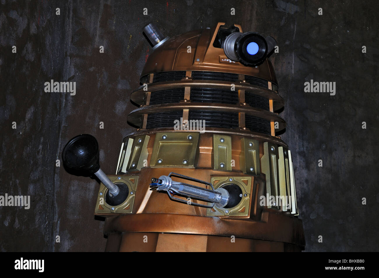 the ' gold dalek '  from the ' dr.who ' television programme - Stock Image