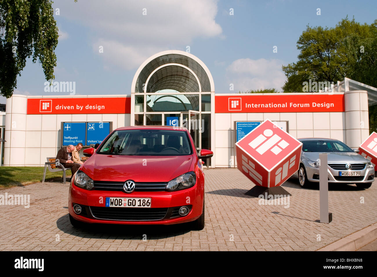Hannover Messe 2009, the world`s most important technology event, open-air site. International Forum Design iF, - Stock Image