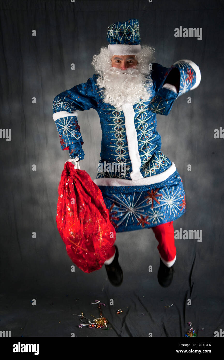 The Russian version of Father Christmas known as Ded Moroz (literally Grandfather Frost) - Stock Image