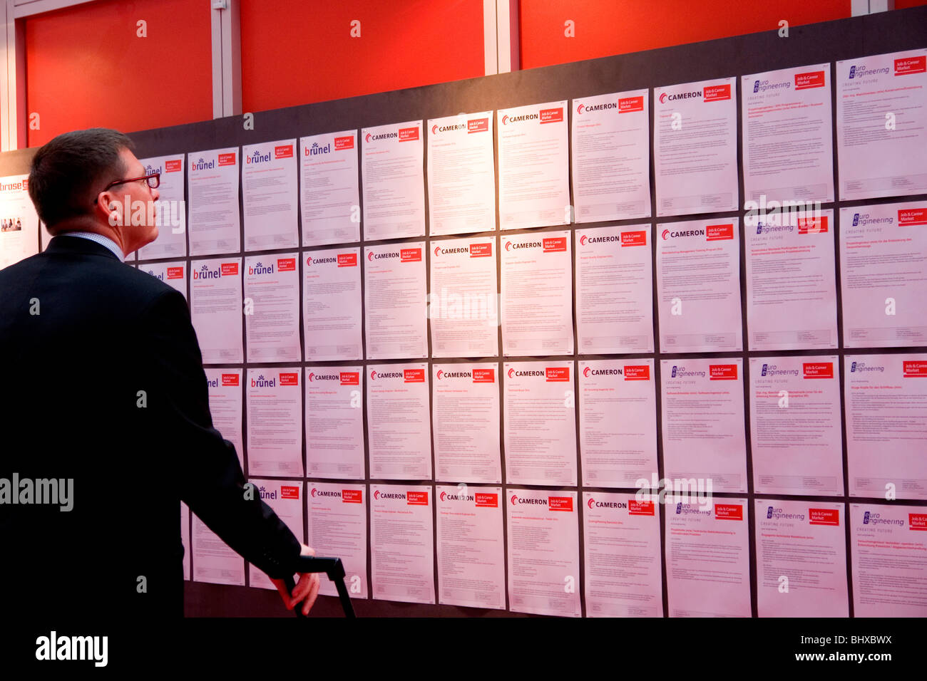 Hannover Messe 2009, the world`s most important technology event, Jobs for free. Federal Republic of Germany, Lower Saxony, Stock Photo