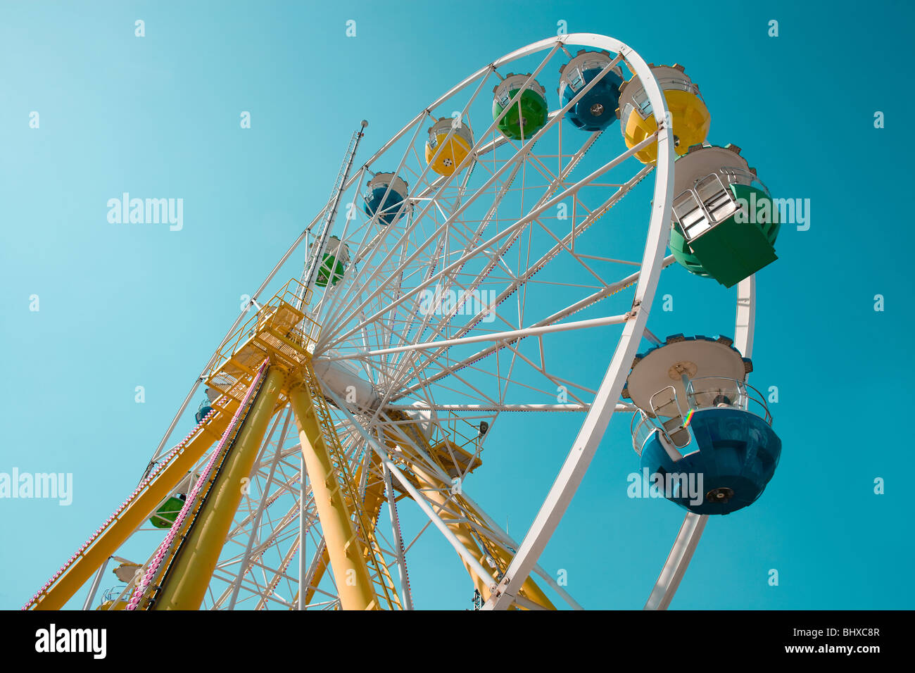 Ferris Wheel at amusement park - Stock Image