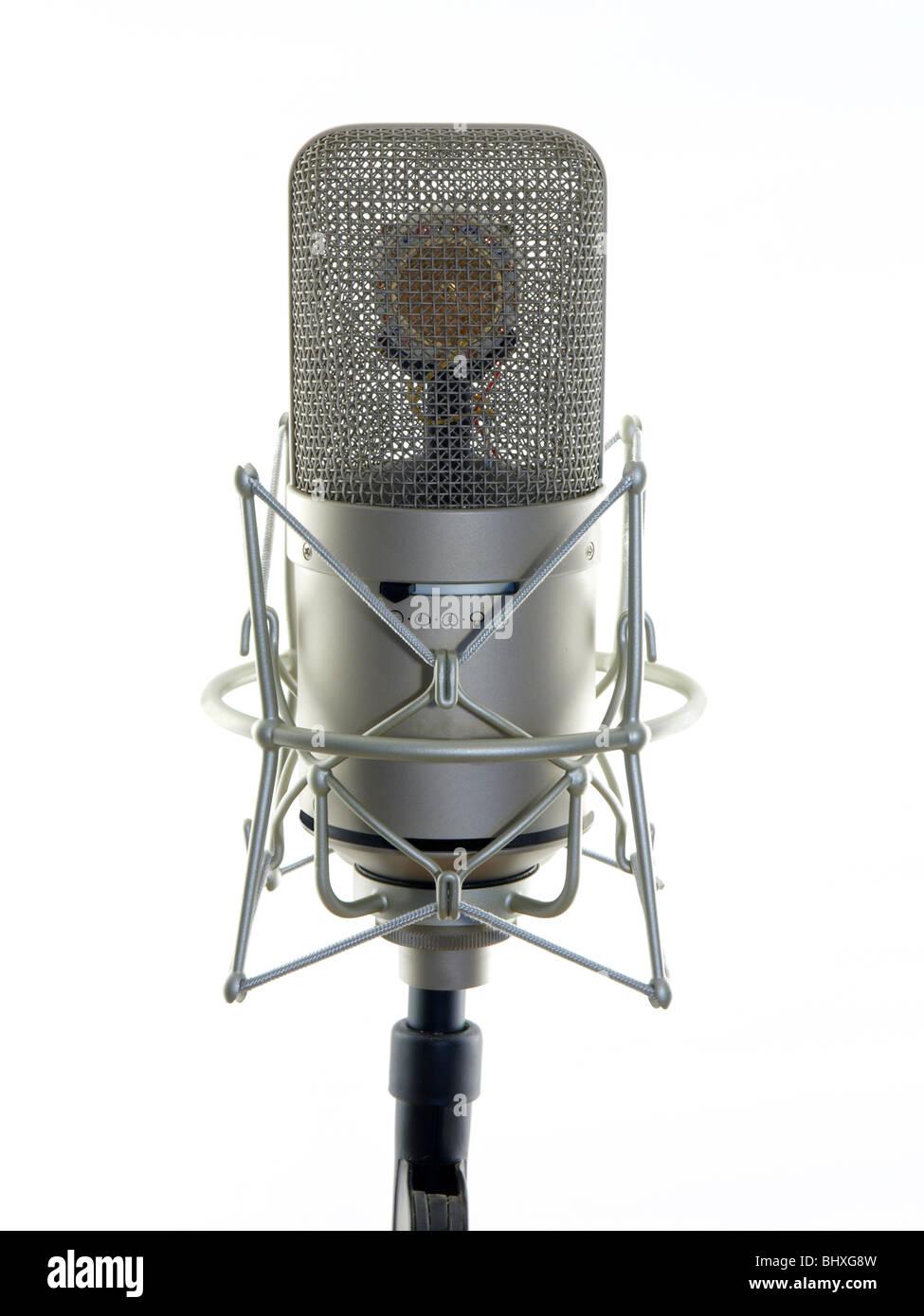 Very expensive pro audio studio microphone. - Stock Image