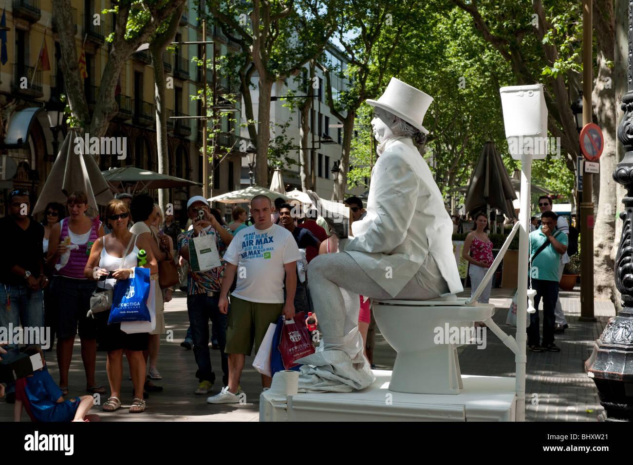 Auf der Rambla, Barcelona, Mai 2009, Spanien#On the Rambla, Barcelona, May 2009, Spain - Stock Image
