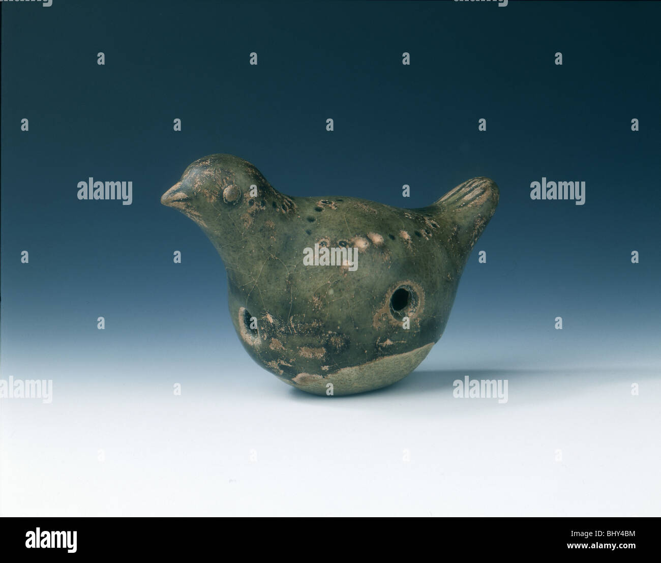 Bird whistle, Tang/Five dynasties, China, 8th-10th century. - Stock Image