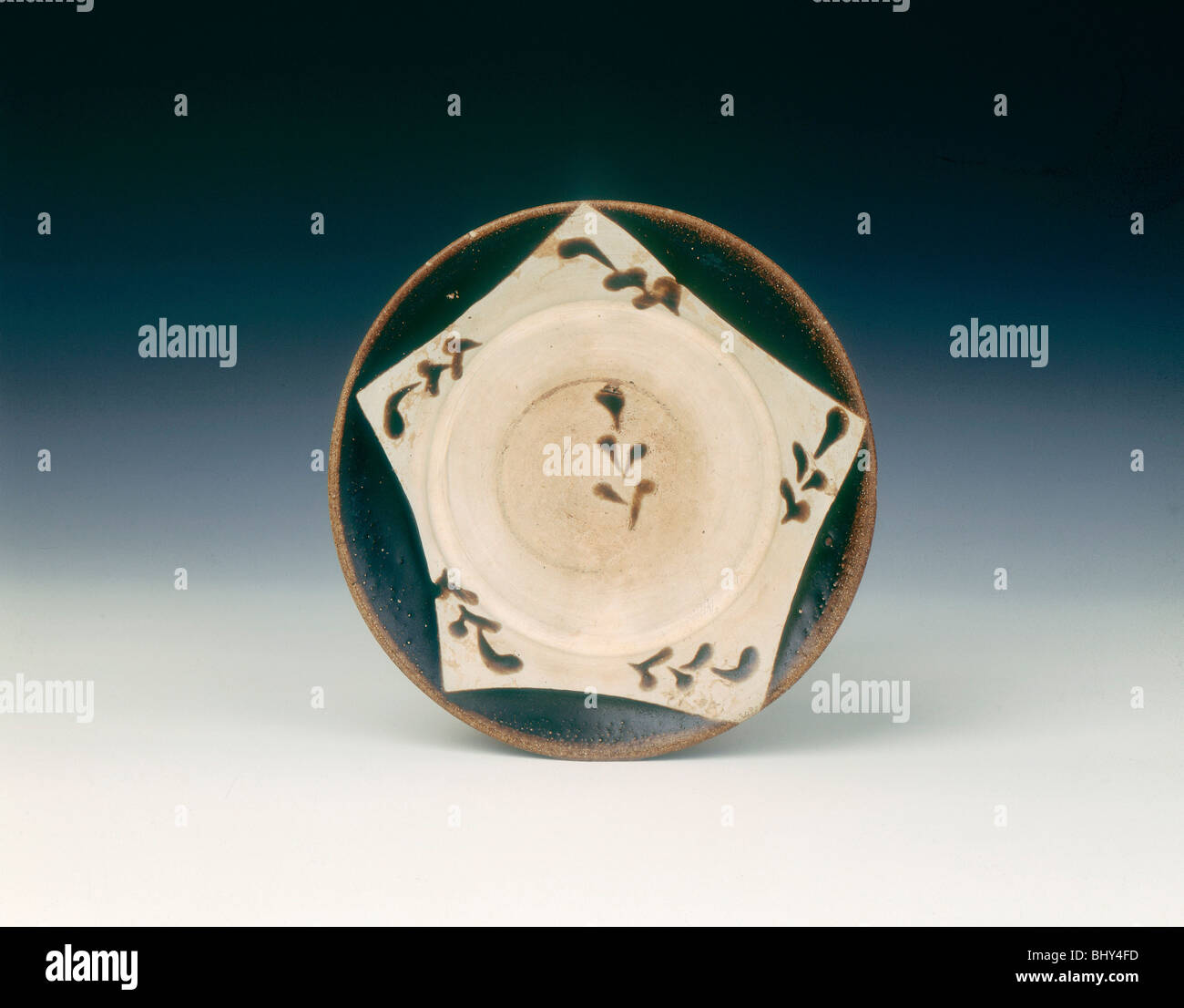 Yaozhou dish, Late Tang dynasty, China, 9th-early 10th century. - Stock Image