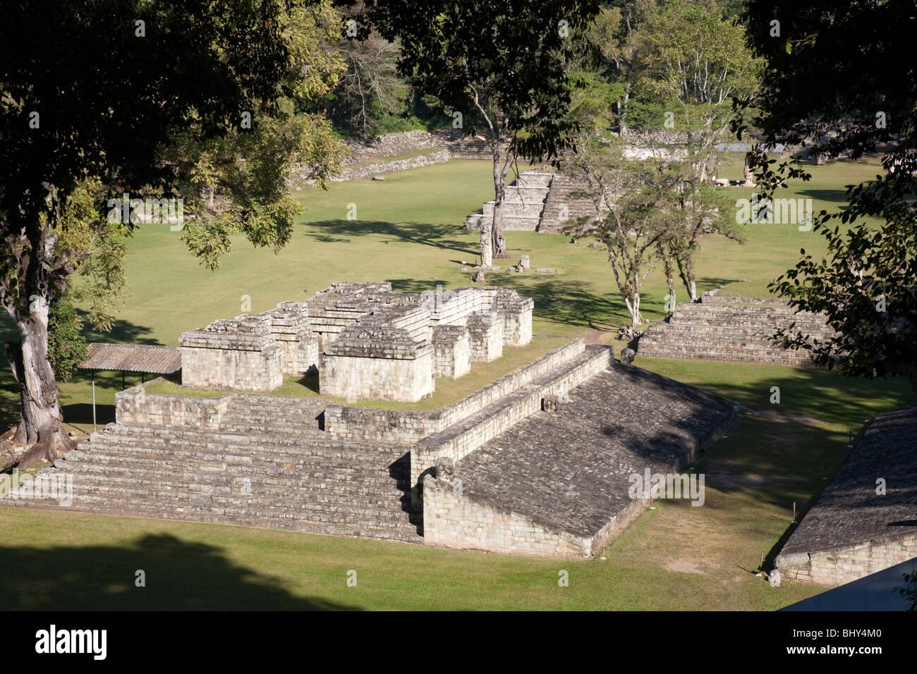 The Great Plaza, Copan Ruinas, Honduras - Stock Image