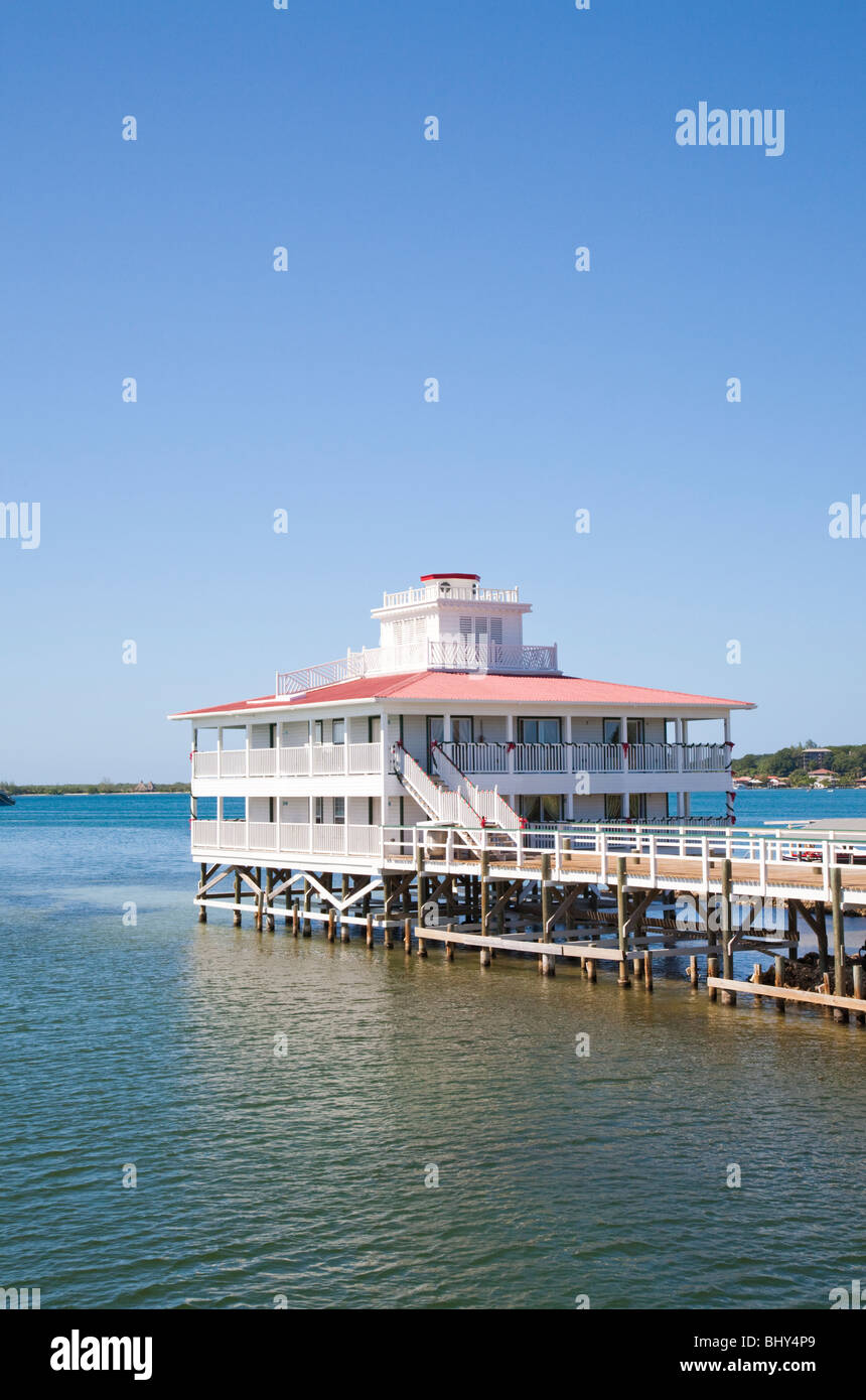 Lighthouse, Utila, Bay Islands, Honduras - Stock Image