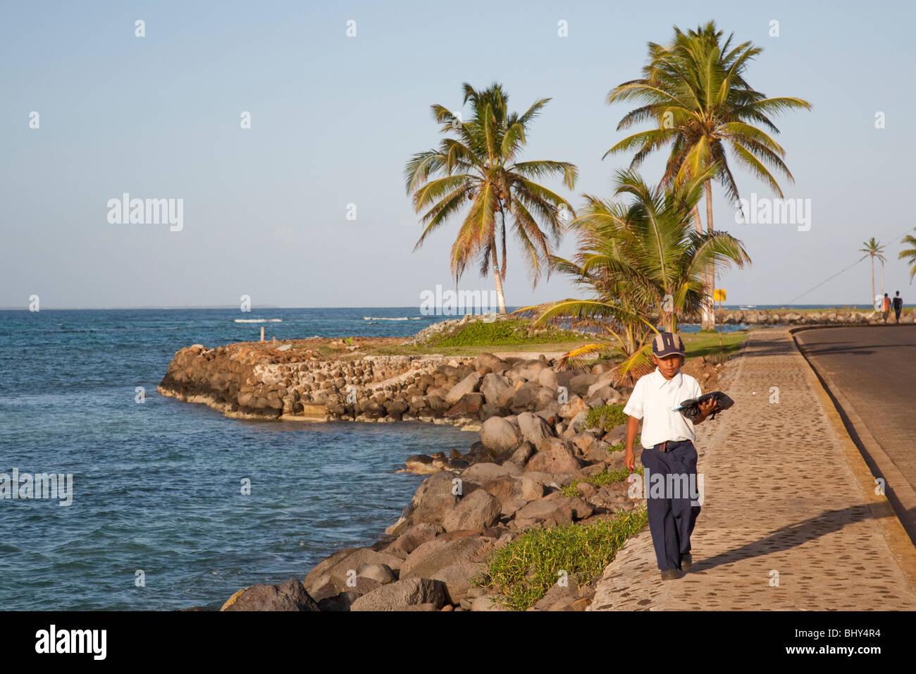 North End, Big Corn Island, Nicaragua Stock Photo