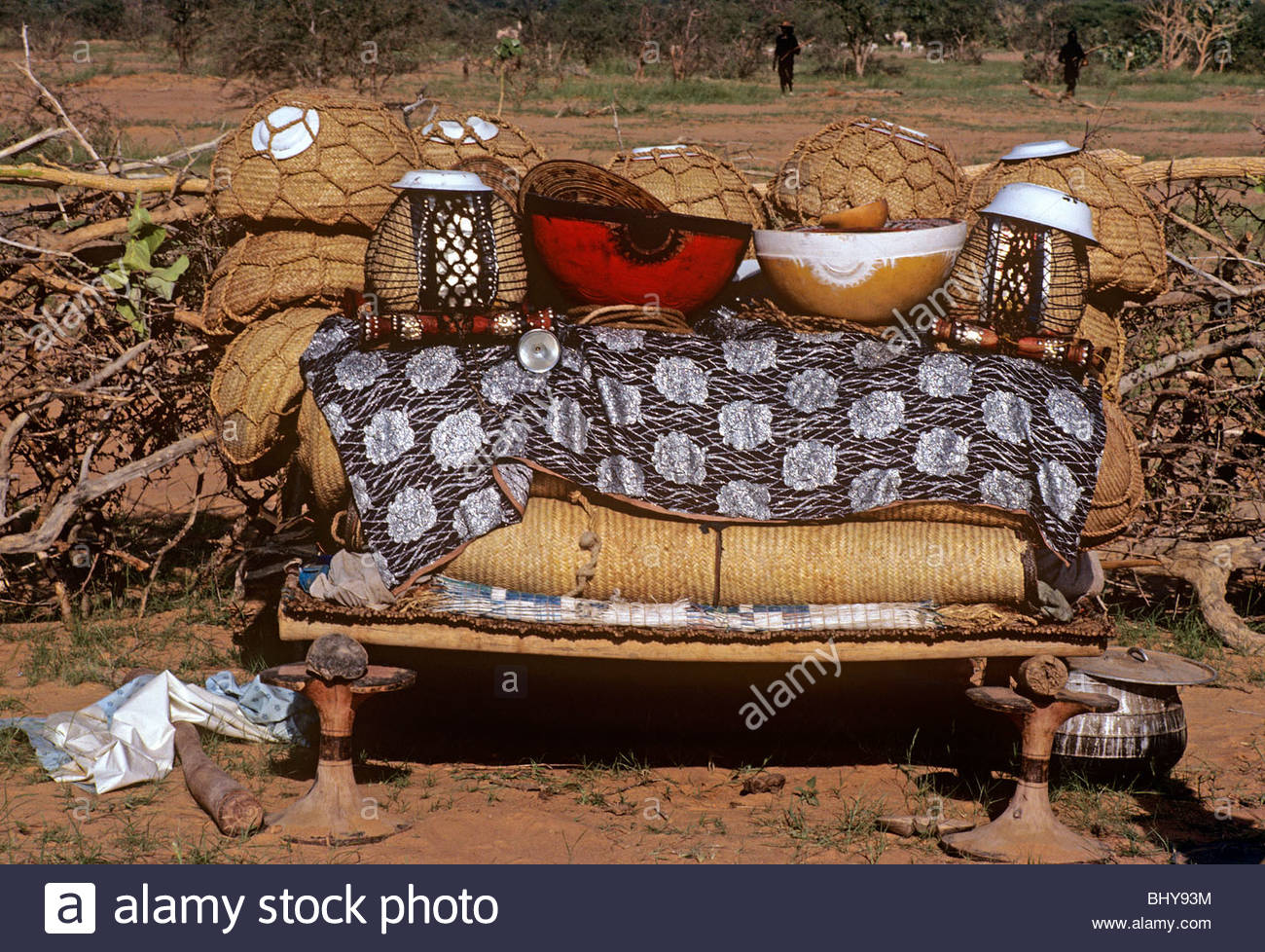 Nomads possessions Niger - Stock Image