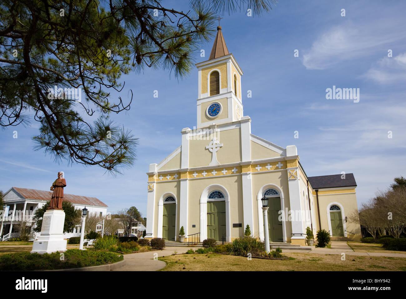 St. Martin de Tours Catholic Church, St. Martinville, Louisiana - Stock Image