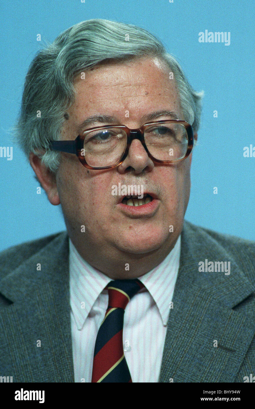 SIR GEOFFREY HOWE MP DEPUTY PRIME MINISTER 03 July 1990 - Stock Image