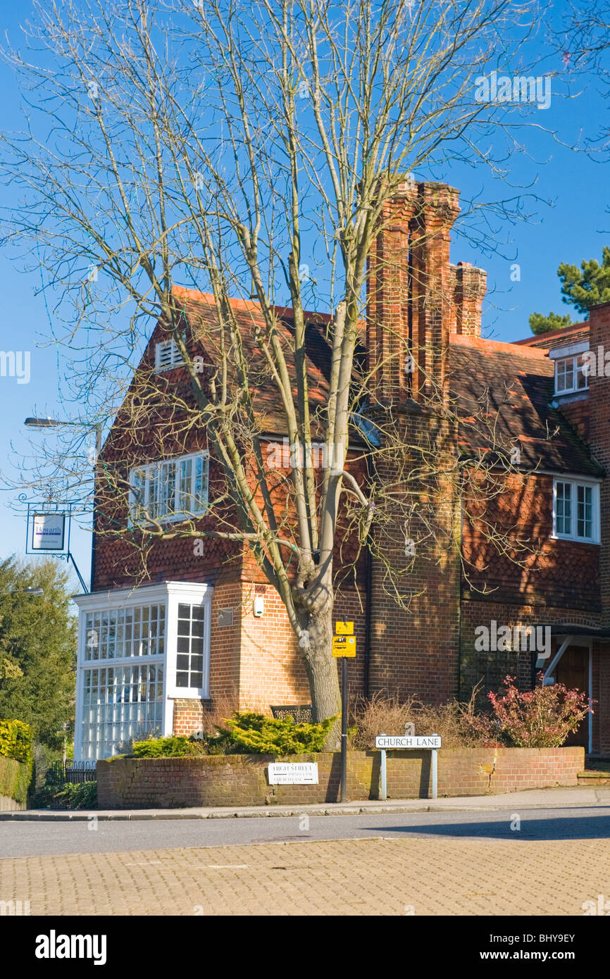 Pinner Middlesex Elthorne Gate on the corner of Church Lane now occupied by Howarth Homes Builders & Developers - Stock Image