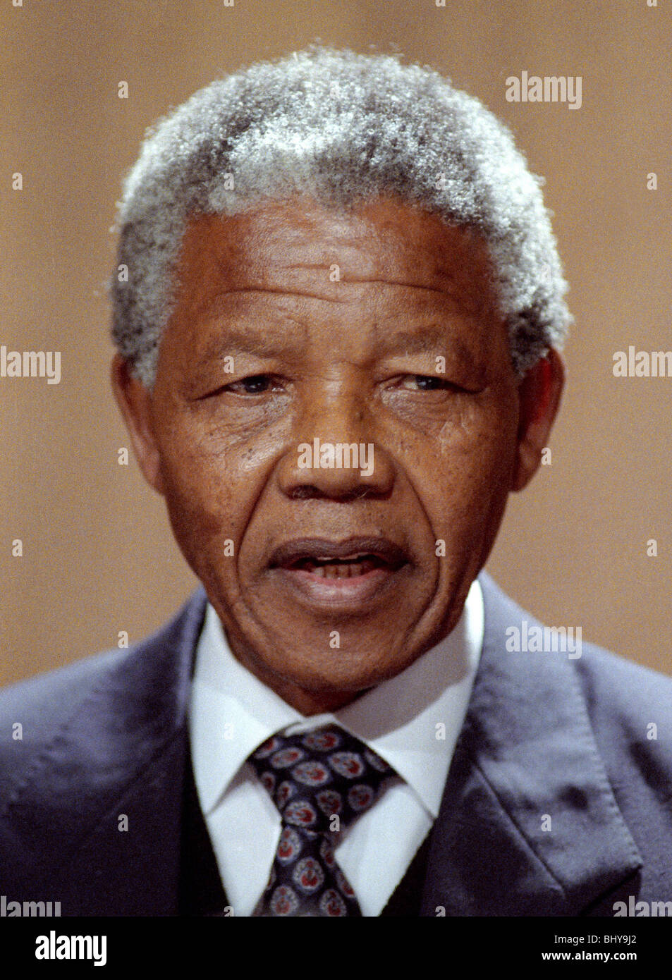 NELSON MANDELA VICE CHAIRMAN OF THE A.N.C. 04 July 1990 LONDON ENGLAND - Stock Image